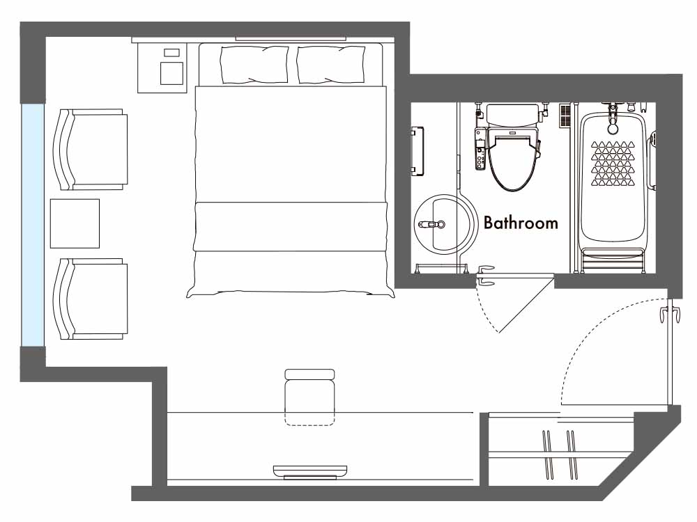 layout drawing of QUEEN SUPERIOR 20sqm